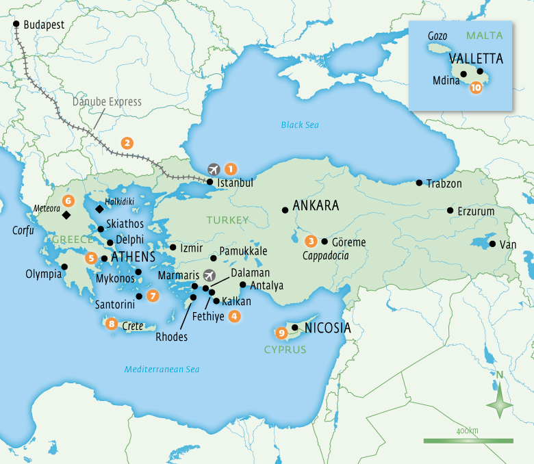 Map of Turkey with Essential Experiences