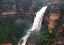 Wentworth Falls in spectacular display