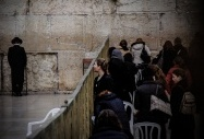 A Jewish Female Worshiper Looks Out At The Male Worshipping Section Of The Wailing Wall Compound, In Jerusalem. Worshipping Space Is Unequally Divided By Gender At The Western Wall With Around Three Quarters Designated To Men And A Quarter To Women. Gender Segregation Is Common Practice In Orthodox Judaism. Violeta Moura  -  21th February 2012, Jerusalem., Israel and the Palestinian Territories by  Violeta Moura