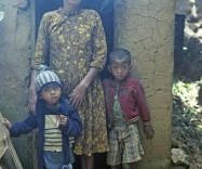 Woman With Her Children, Madagascar by Roger Turley