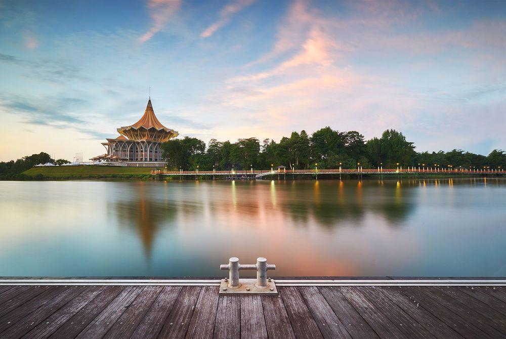 Sarawak River, Kuching, Borneo