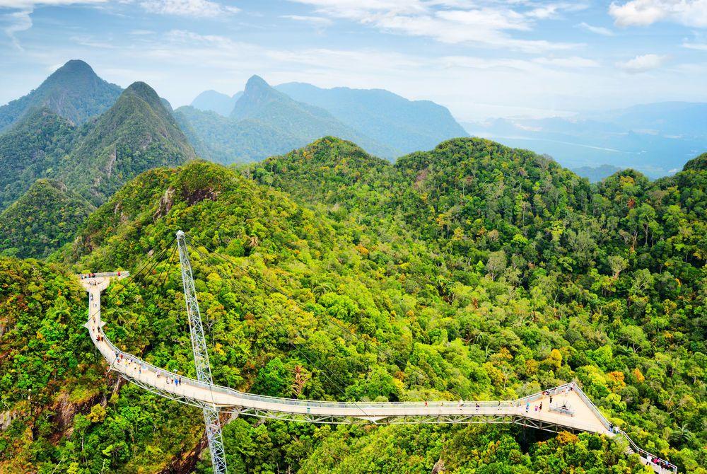 Sky-walk bridge, Langkawi, Malaysia