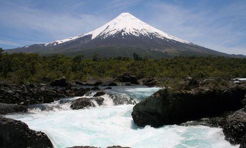 Petrohué Waterfalls, Lake District, Chile