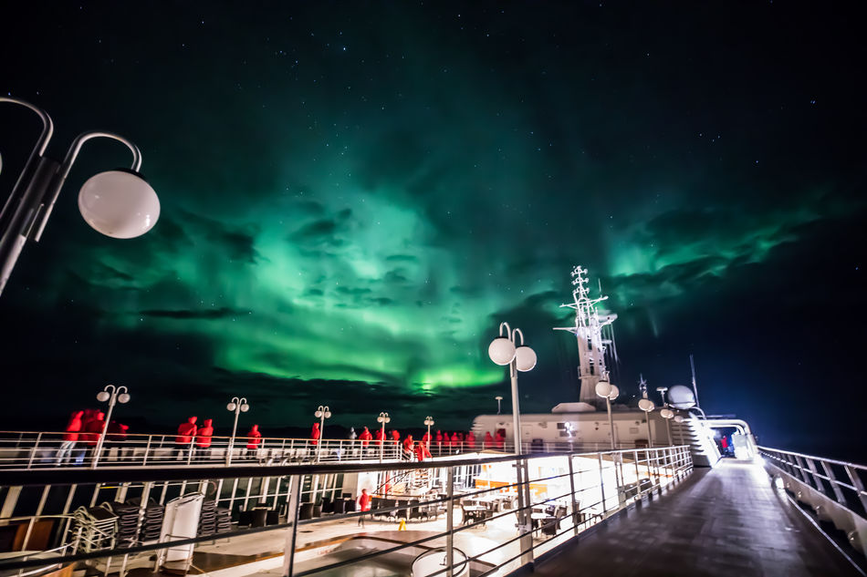 Northern Lights seen onboard Silver Cloud