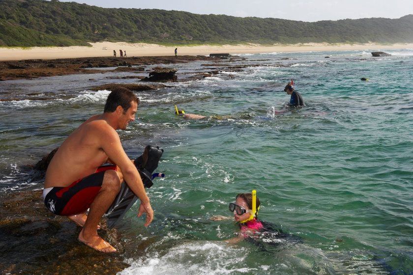 Snorkelling, Thonga Beach Lodge, South Africa