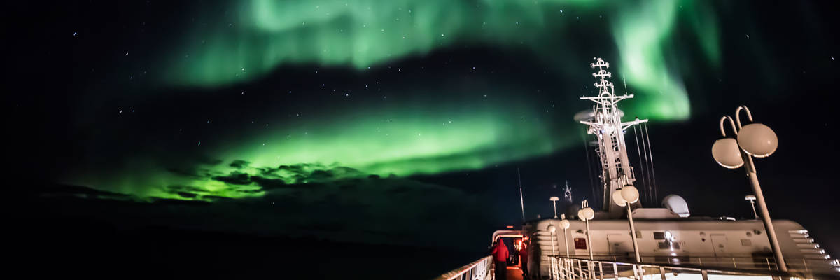 Silversea Guests view Northern Lights on Silver Cloud