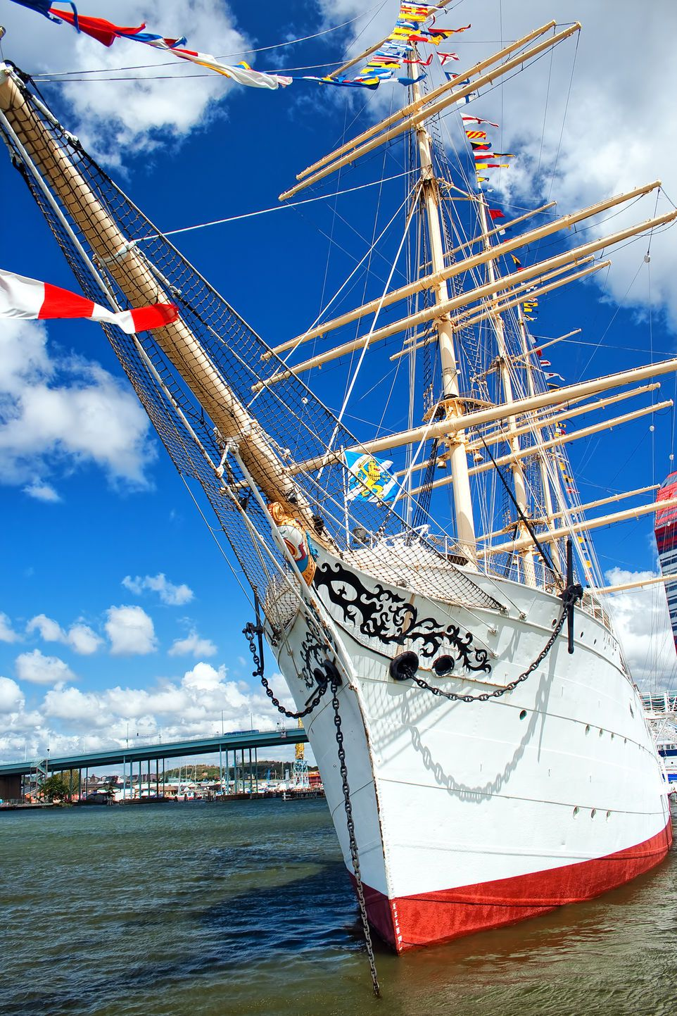 A Tall Ship Moored in the Harbor, Gothenburg, Sweden