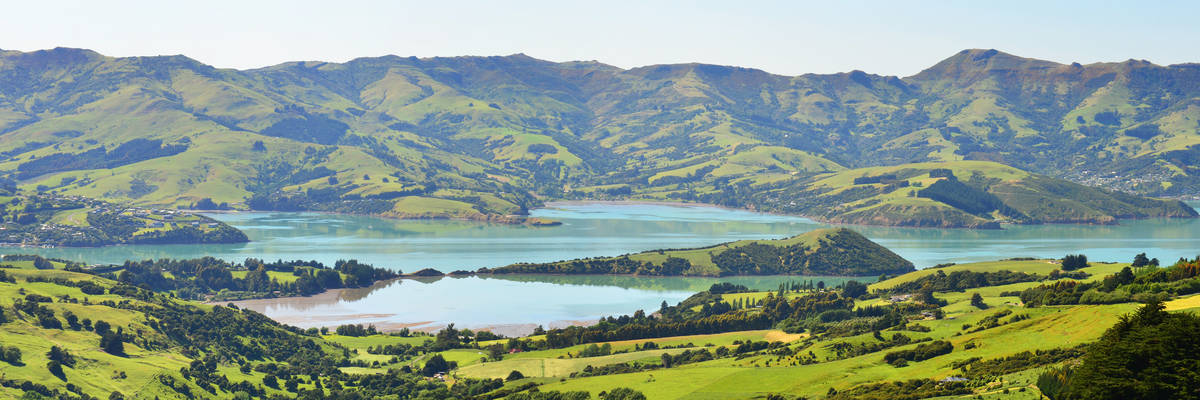 A beautiful view of Akaroa, New Zealand