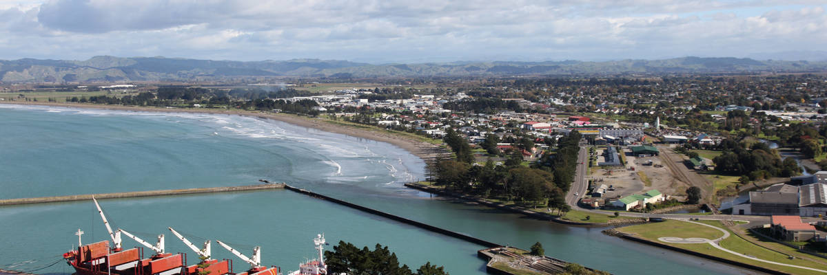 A view of Gisborne and its port
