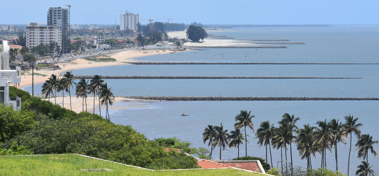 A view of the beach line of Maputo the capital of Mozambique