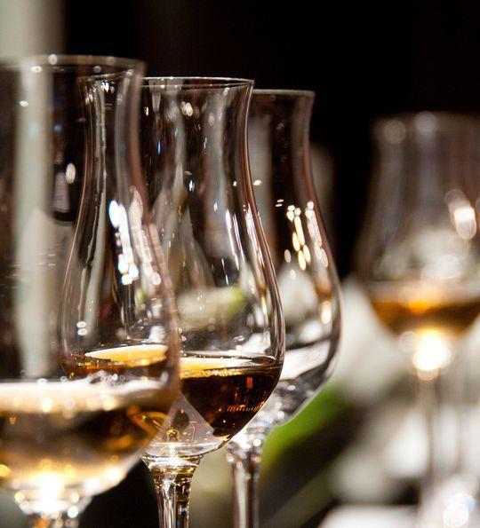 A wine tasting flight