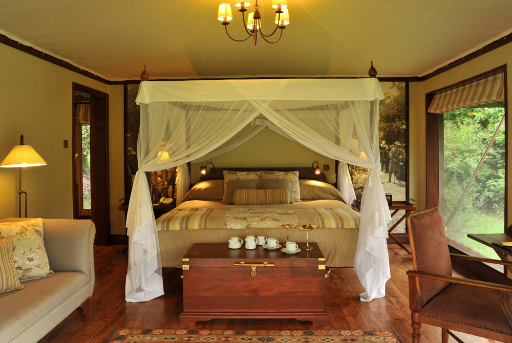 Luxury tents, Lake Elmenteita Serena Camp
