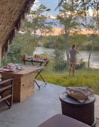 Tented accommodation, andBeyond Grumeti Serengeti Tented Camp
