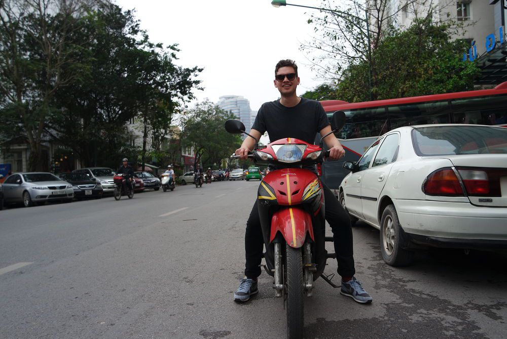 Adam Hickmott in Hanoi, Vietnam