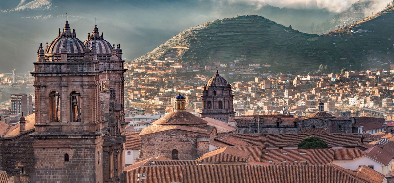 The Aden Mountain from the Plaza de Armas, Cusco, Peru