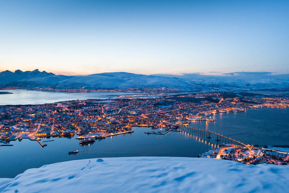 Cable car over Tromso