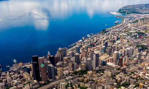 Aerial View of Seattle, USA