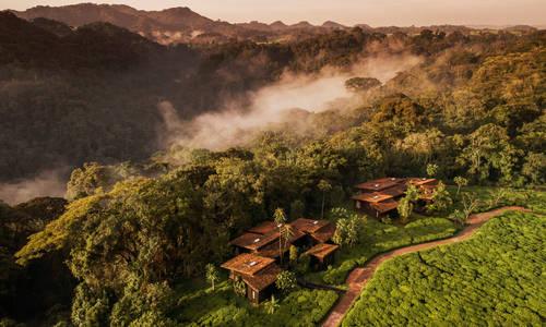 Aerial view, One & Only Nyungwe House, Rwanda