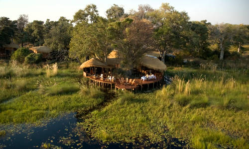 Aerial view, Sanctuary Baines Camp, Botswana