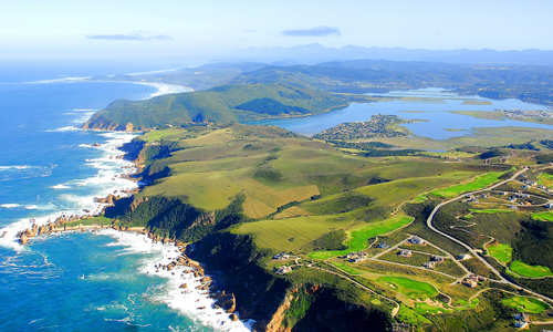 Aerial view of Knysna, Garden Route, South Africa