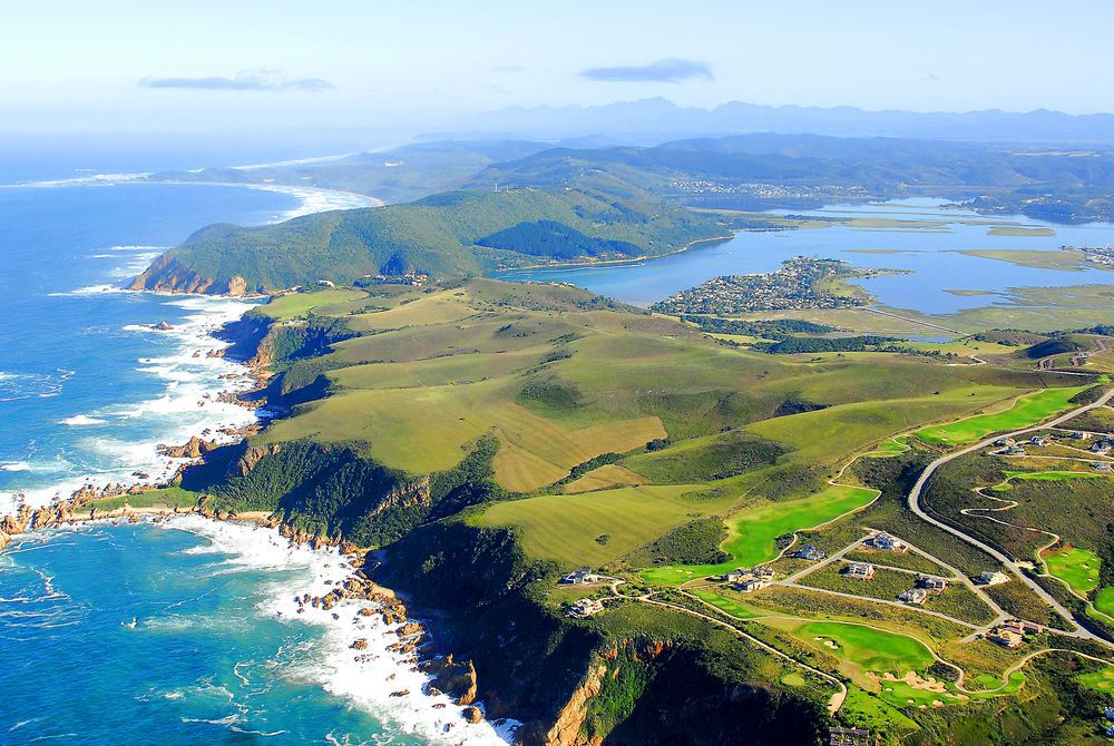 Aerial view of Knysna, Garden Route