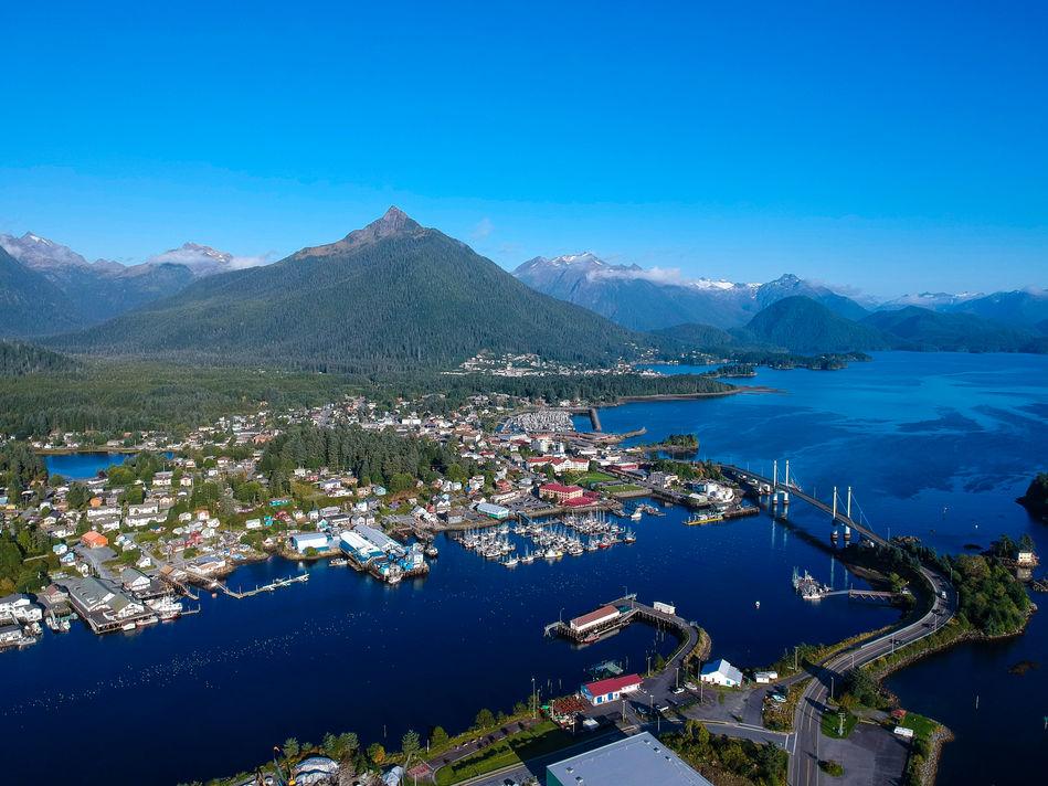 Aerial view of Sitka, Alaska