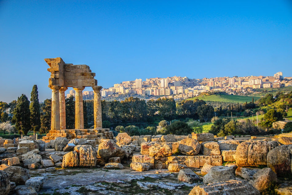 View of Agrigento, Italy