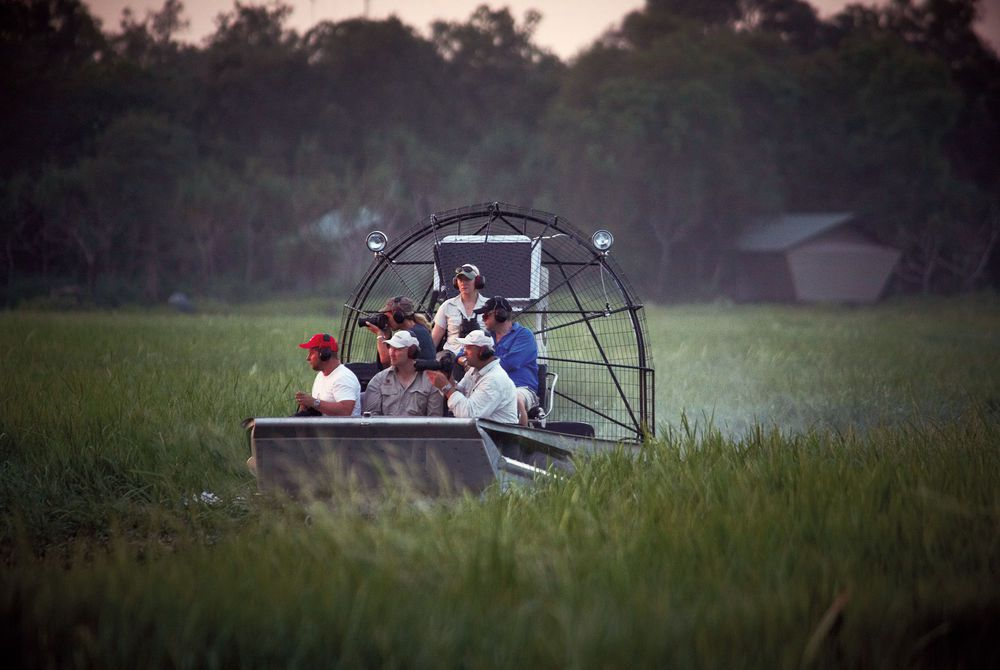 Airboat Tour, Bamurru Plains,  Kakadu National Park, Northern Territory, Australia