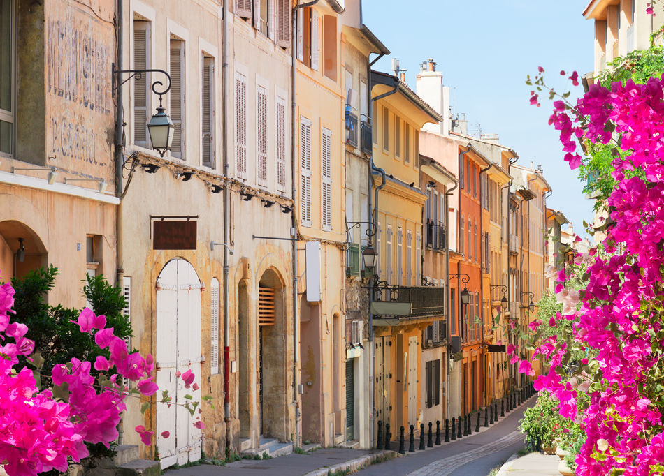 Street in the old town of Aix-en-Provence