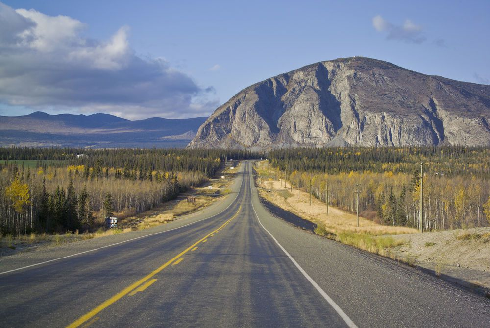 Alaska Highway near Haines Junction, The Yukon, Canada