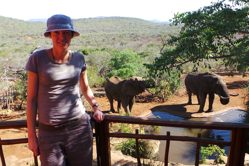 Alison Nicolle on safari in South Africa