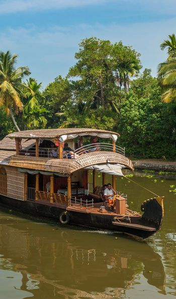 Backwaters of Alleppey (Alappuzha) in Kerala, India