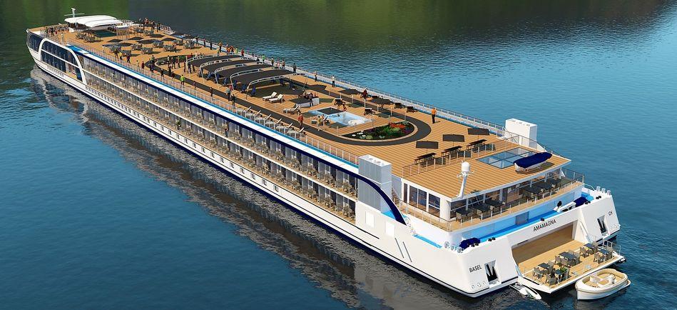 The new AmaMagna river ship