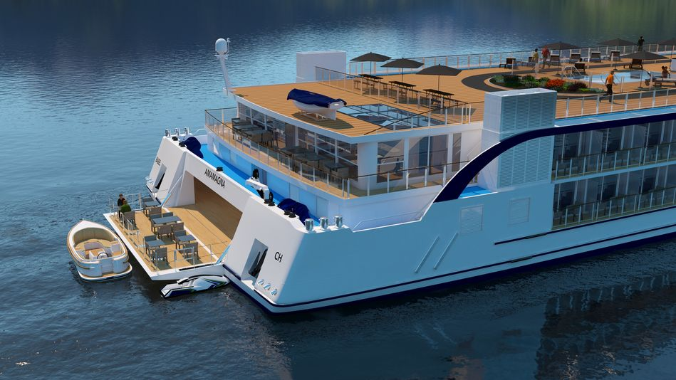 Water sports platform and Sundowner on AmaMagna