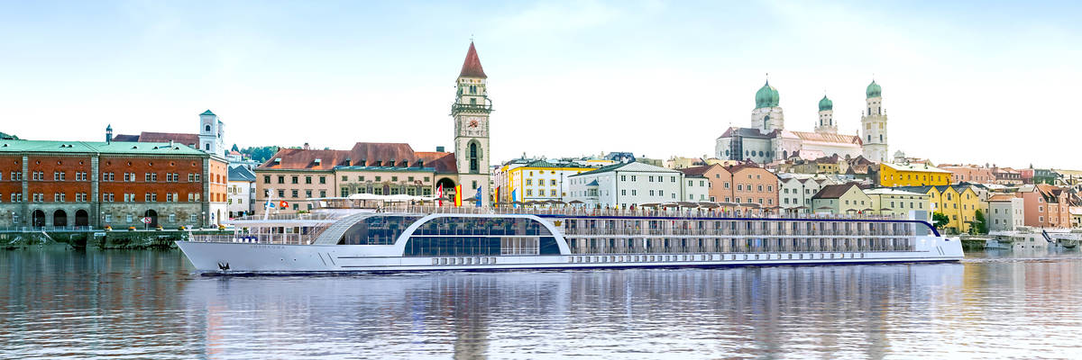 AmaWaterways AmaMagna Christened in Grein, Austria