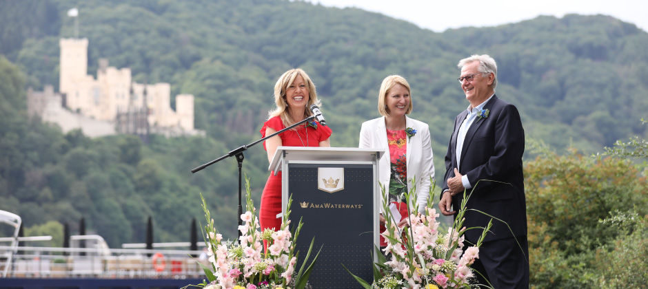 Kristin Karst, Libbie Rice and Rudi Schreiner AmaWaterways