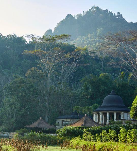 Suite accommodation at Amanjiwo, a luxury resort next to a world wonder – Borobudur