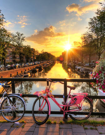 Amsterdam Canal Sunset