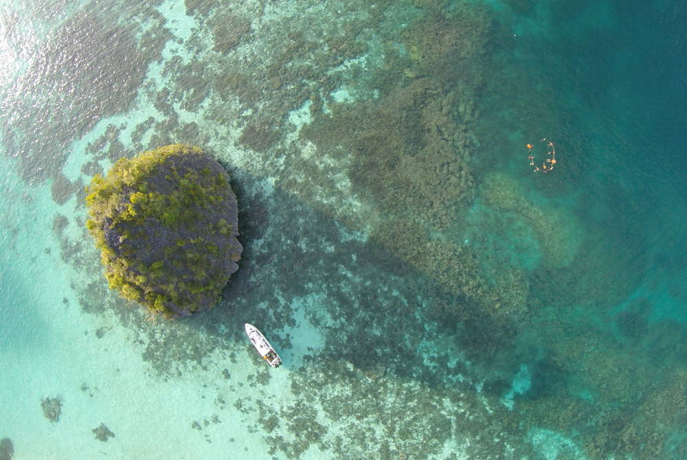 Typical atoll, West Papua