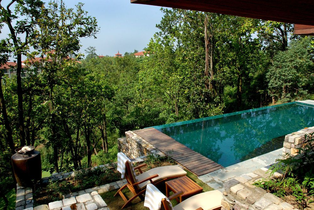 Villa Pool, Amanda in the Himalayas