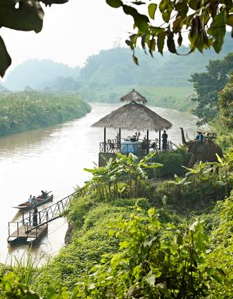 Longboat cruise, elephant ride and private dining, Anantara Golden Triangle Resort & Spa