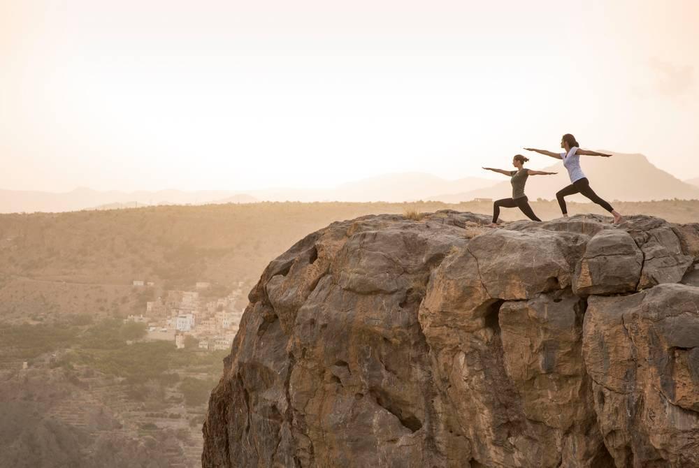 Mountain yoga, Anantara Al Jabal Al Akhdar Resort