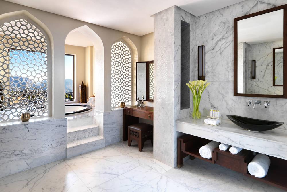 Royal Mountain Villa bathroom, Anantara Al Jabal Al Akhdar Resort