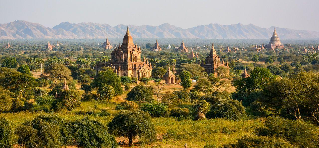 Temple plains of Bagan in Burma