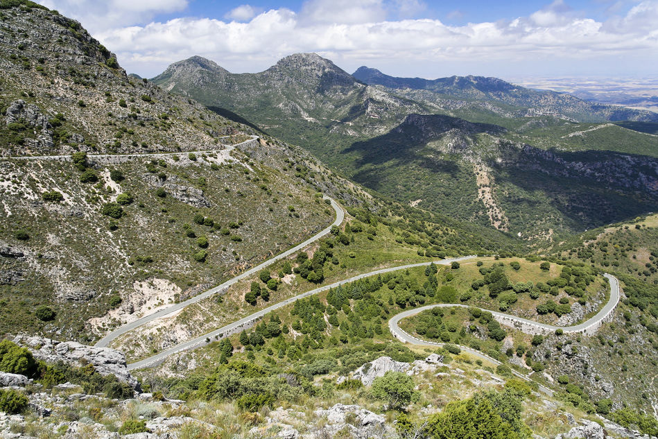 Roads of Andalucia in Spain