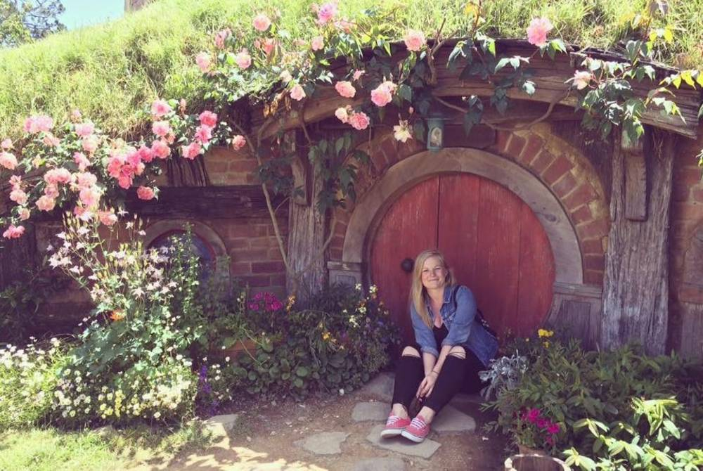Angela at Hobbiton