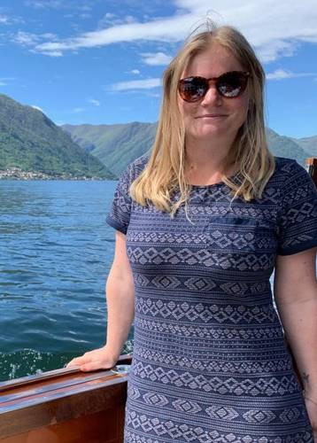 Angela in Lake Como