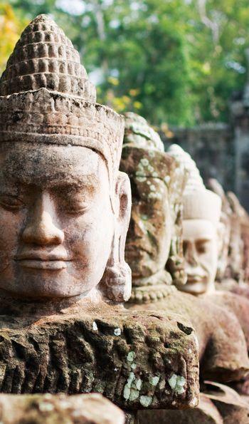 Statues at Angkor Thom, Cambodia