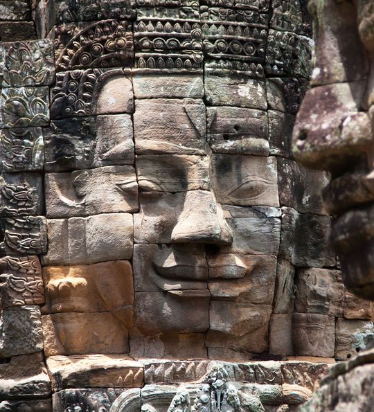 Bayon temple at Angkor Wat in Siem Reap, Cambodia