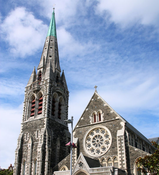 Anglican cathedral in Christchurch, Canterbury, New Zealand